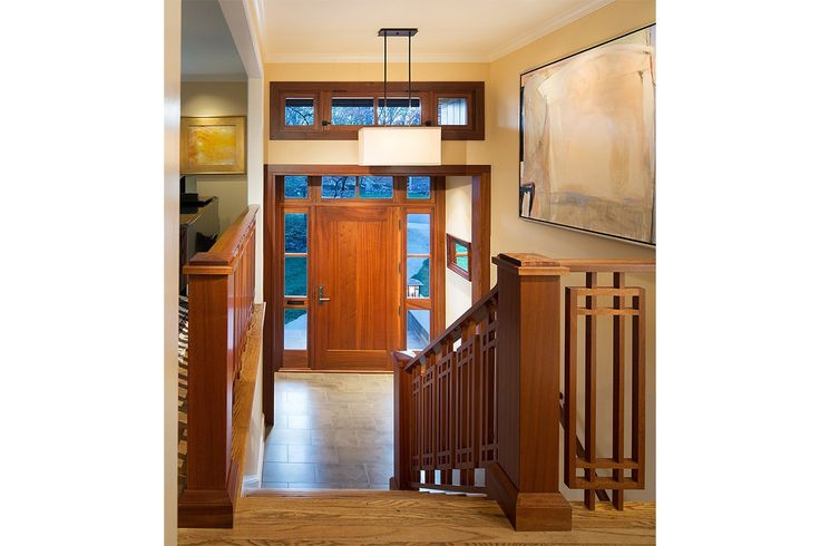 Entrance Foyer Circulation In A House : Custom modern homes split level entry prairie style