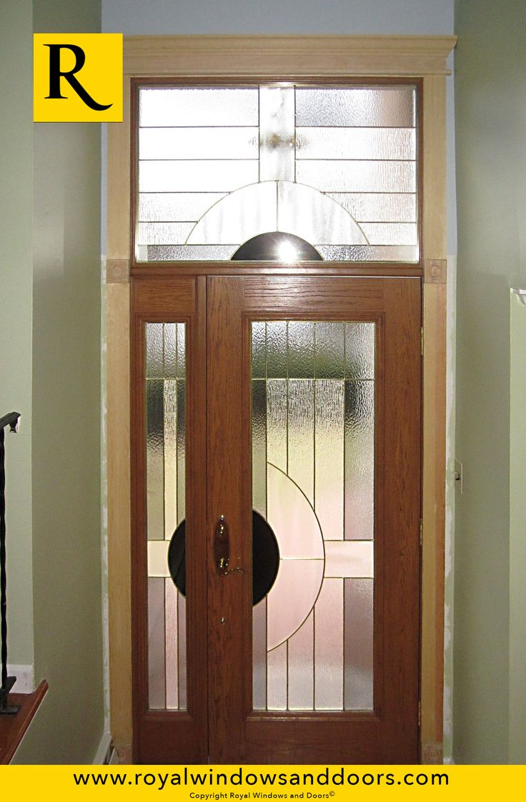 Single entry doors with glass - Single Entry Door Wood Finish One Side Lite Transom Designer Glass