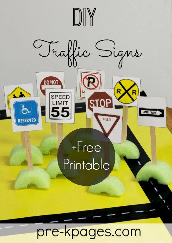 Environmental Print Traffic Signs Free Printable for #preschool