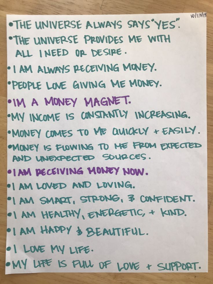 LOA Affirmations. Law of Attraction. Positivity. B…
