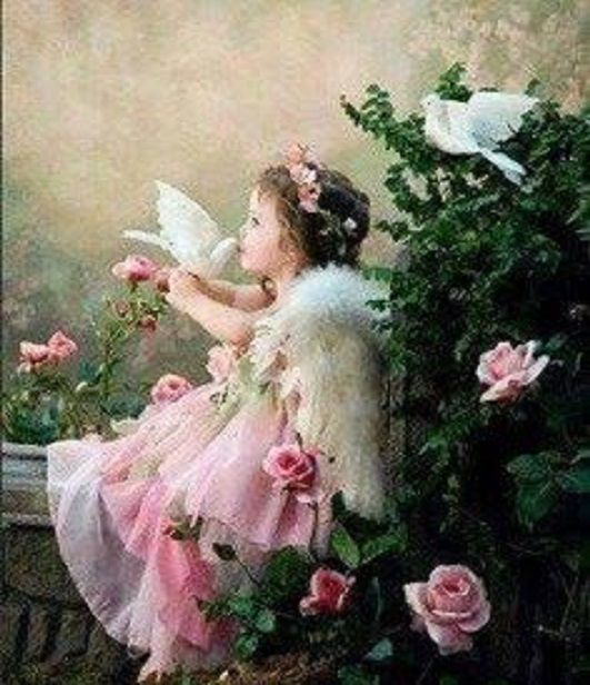 Little angel with friend