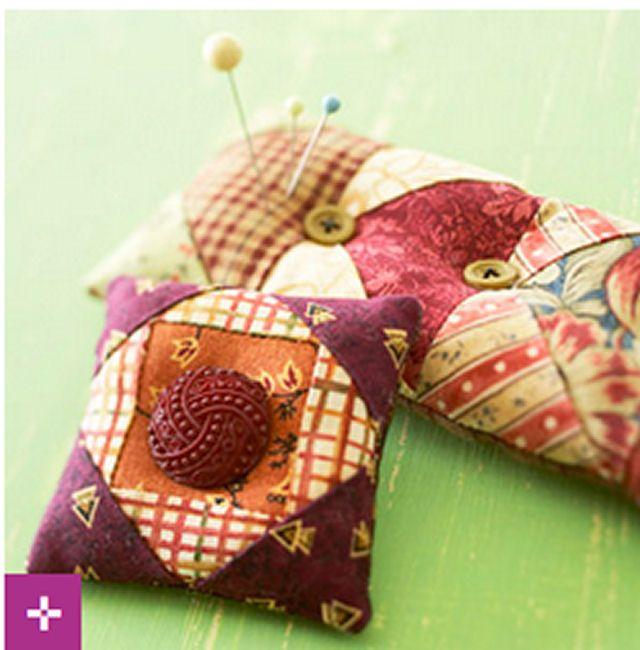 DIY Pincushion Patterns: Pincushions from Scraps