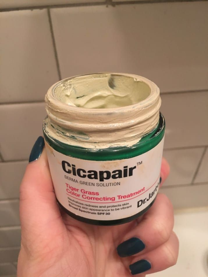 25. Dr. Jart Cicapair Tiger Grass Color Correcting Treatment is a redness-demolishing cream that applies green and fades into your skin tone so you can pull off a legit no-makeup look.