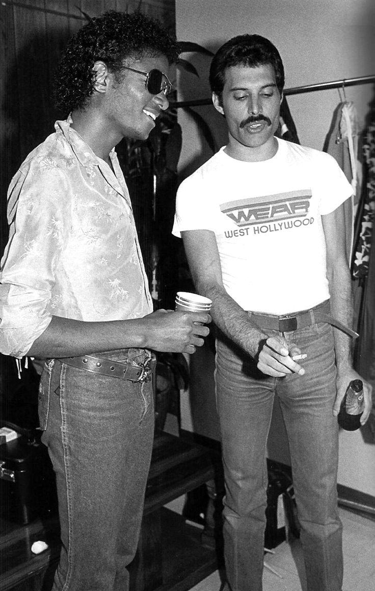 freddie mercury michael jackson photo in 19801