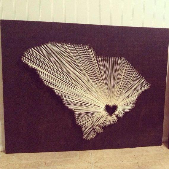 "Custom ""Home Sweet Home"" String Art by MagnoliaDesignEE on Etsy - Charleston, South Carolina"