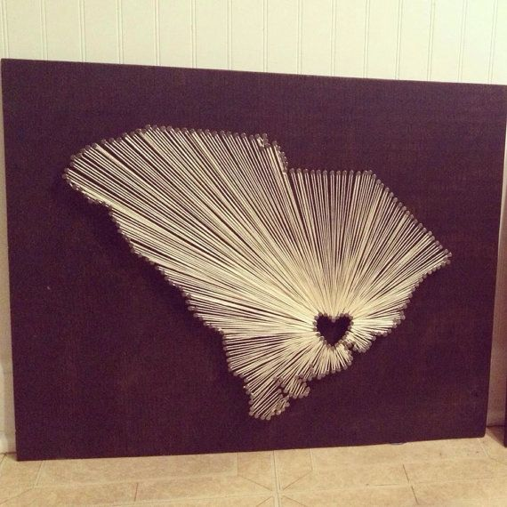 "Custom ""Home Sweet Home"" String Art by MagnoliaDesignEE on Etsy - Charleston, South Carolina"
