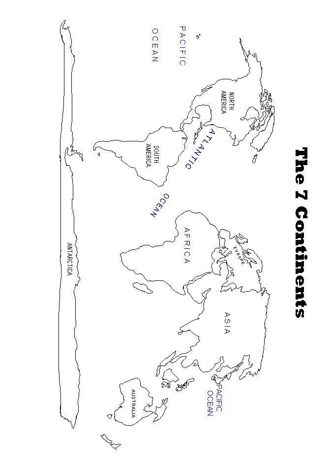 world map worksheet for second grade