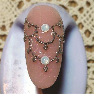 Chandelier Art With Caviar Beads - Technique - NAILS Magazine