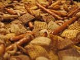 Yummy Low Fat Party Chex Mix Recipe - 6 WWP+ Points for 2 cups.