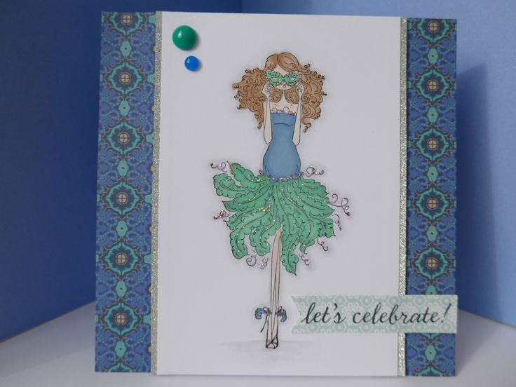 Card made using Stamping Bella Marcella goes to the Masquerade stamp.