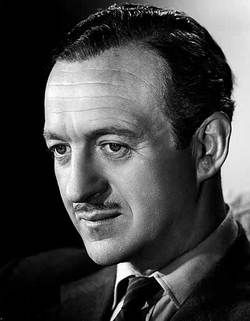 David Niven/****Guns of Navarone; Pink Panther; Stairway to Heaven; Murder by Death; Death on the Nile; Candleshoe; King, Queen, Knave; Canterville Ghost; Before Winter Comes; Conquered City; 55 Days at Peking; Dodsworth; Thank You, Jeeves; Charge of the Light Brigade; Bishop's Wife; Around the World in 80 Days; My Man Godfrey; Casino Royale; Separate Tables
