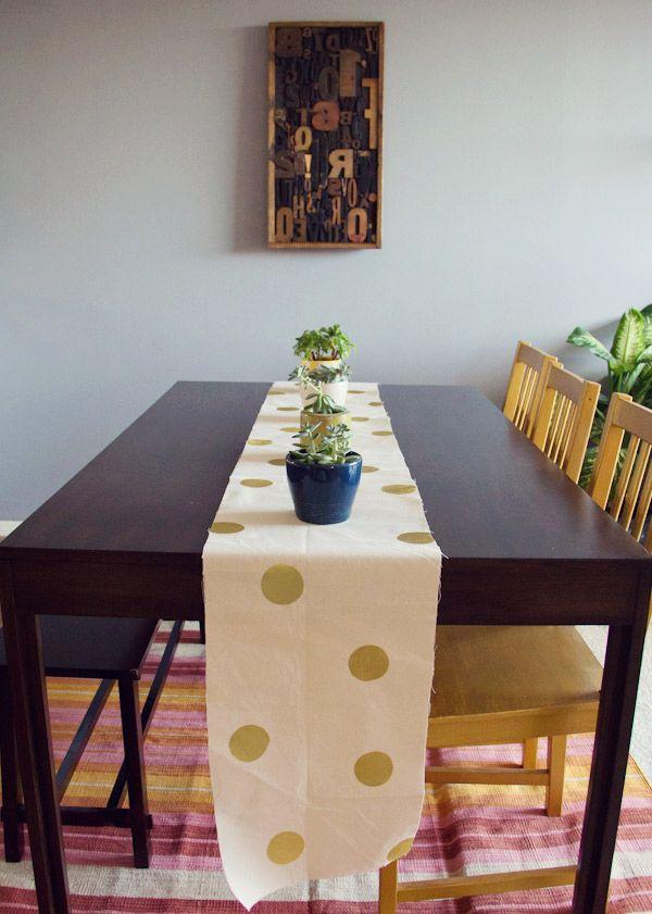 DIY Polka Dot Table Cloth | Lovely Indeed