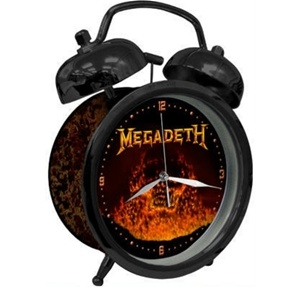 Megadeth Flaming Skull Alarm Clock
