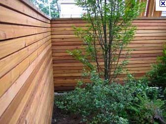 Cool Fence Ideas For Backyard image of cool privacy fence designs Neat Idea With The Planks Running Horizontal On This Fence Very Cool Backyard