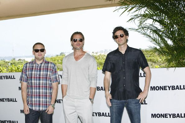 "Jonah Hill Bennett Miller Photos - In this handout photo provided by Sony Pictures Entertainment, (L-R) Jonah Hill, Brad Pitt and director Bennett Miller attend the ""Moneyball"" photocall at the Summer of Sony 3 on July 11, 2011 in Cancun, Mexico. - Celebrities Attend Summer Of Sony 2011"