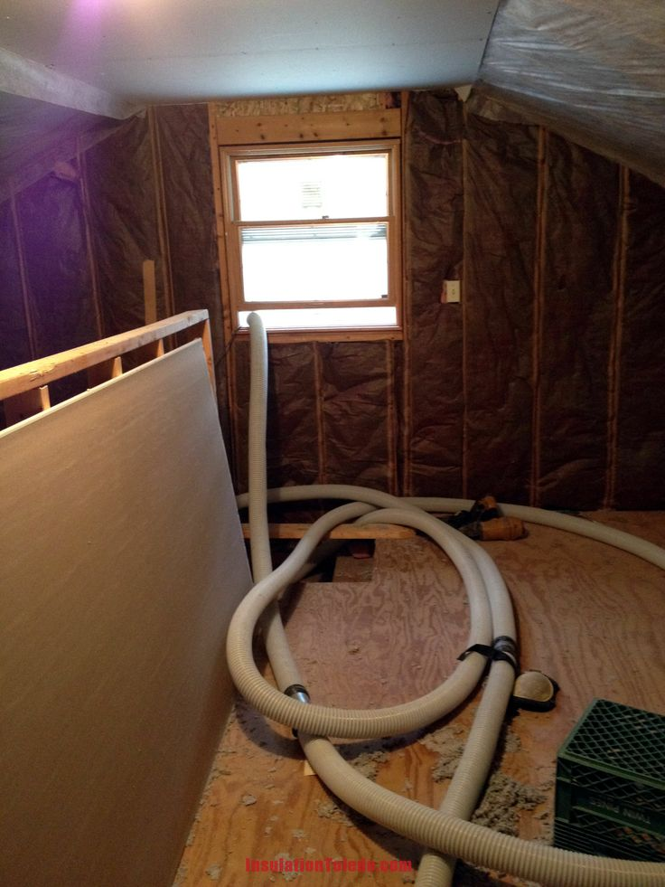 When installing cellulose insulation, no need to run a hose through the entire house and risk damaging walls or woodwork!