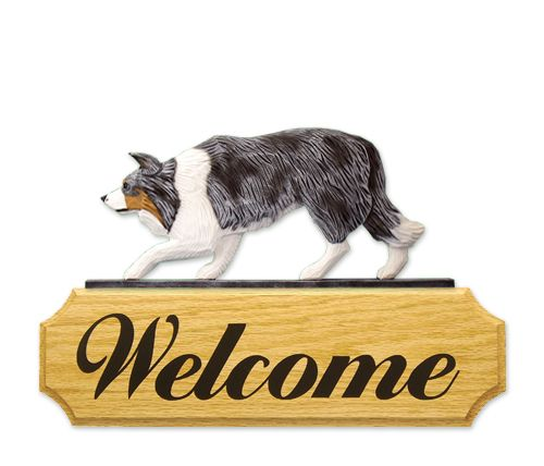 Border Collie welcome sign   www.pawsawhile.com.au