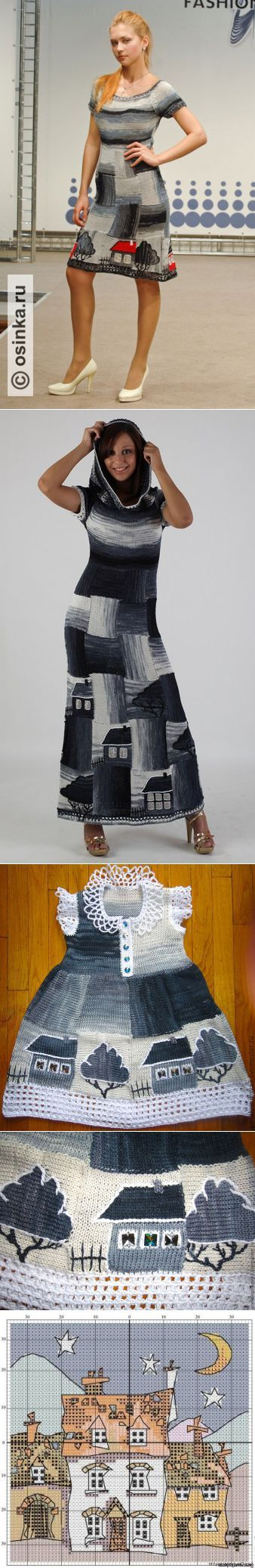 Suknelė su namais | вязание | Постила