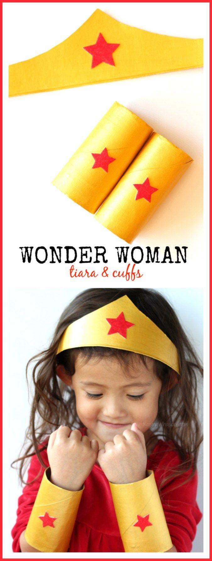 DIY Wonder Woman Tiara & Cuffs Craft - Raising Whasians