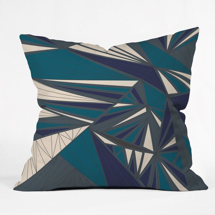 Vy La Tech It Out Midnight Outdoor Throw Pillow | DENY Designs Home Accessories