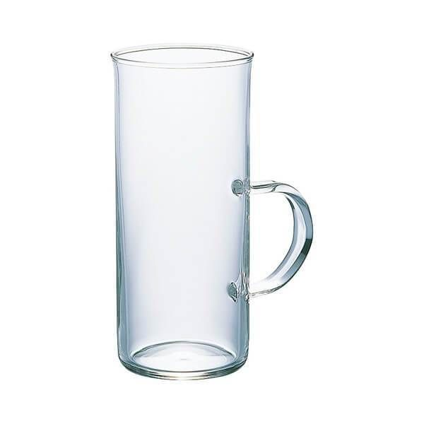 """The Hario heatproof """"Hot"""" Glass can be used to enjoy hot or cold beverages.   Whether you are using it as a pour over server, or simply as a stylish drinking glass, the heatproof borosilicate glass make it both durable and easy to clean."""