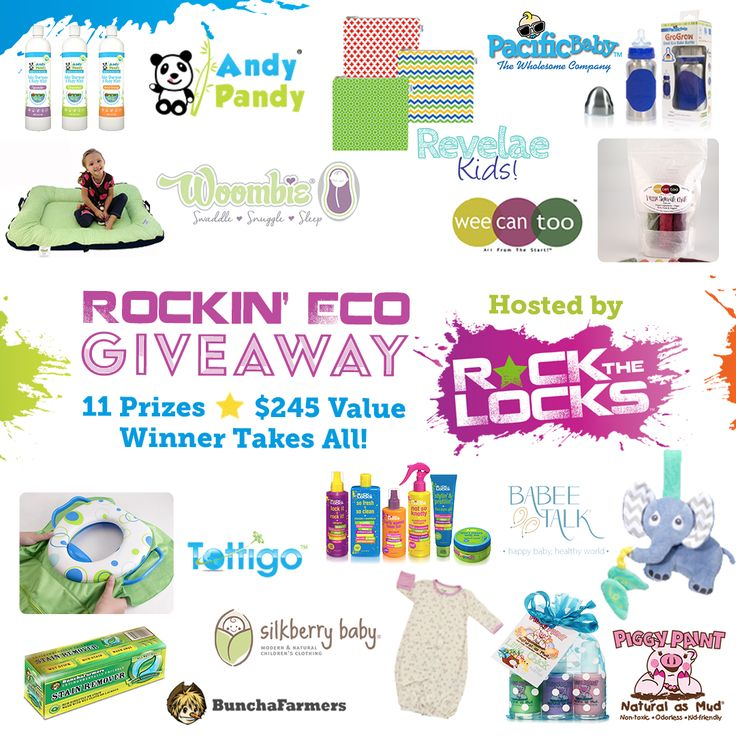 Check out this Rockin' Eco Giveaway featuring amazing eco-friendly products for the family and there's a secret giveaway and reward message that will pop up once you enter. #gogreen #rockthelocks