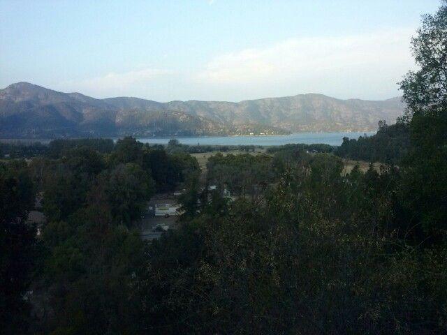 Vista desde el Cerro La Cruz Rangue Laguna Aculeo...