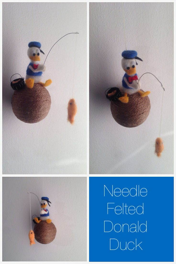 Needle Felted Donald Duck