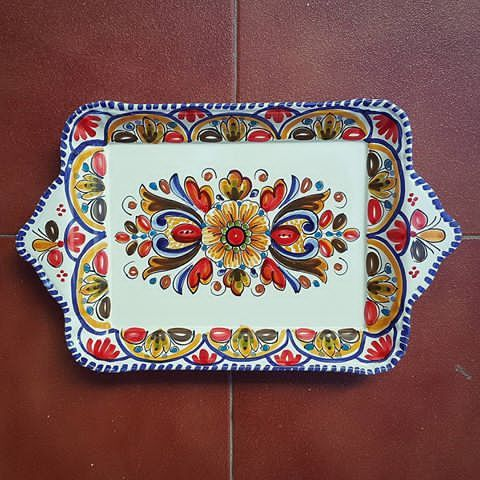 #Spanish #Ceramic #Tray #MijasPueblo #Mijas #Malaga #Spain #Andalucia #Ceramica #Española #Bandeja #Mijasceramic #Lionluis #Mijasart #Andalusian #Exposicion #Artesania #De #España #CeramicFromSpain www.lionluis.com www.mijasceramic.com