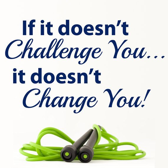 If it doesnt challenge you... it doesnt change you. Vinyl decal. This motivational quote is perfect for the gym or home fitness room. A great decal for a classroom, a dorm This vinyl decal comes in two sizes and your choice of color. 14 X 24 21 X 36     About: Vinyl graphics are a wonderfully easy, no mess, affordable way to add personality to your home or business!  Vinyl decals are easily removed although they can not be re-positioned or reused. We always include simple application and…