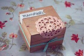 Caixa mdf decorada com crochê