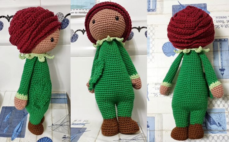 ... doll modification made by Eugenia H P - crochet pattern by Zabbez