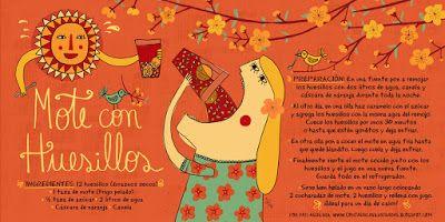 Cositas Ricas Ilustradas por Pati Aguilera: Mote con Huesillos