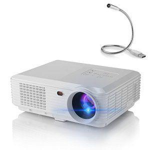 Vidéoprojecteur Yokkao U2 HD LED Projecteur Portable 4600 Lumens, Résolution 1280×800 Contraste Cinéma Maison Théatre Support USB /HDMI /AV…