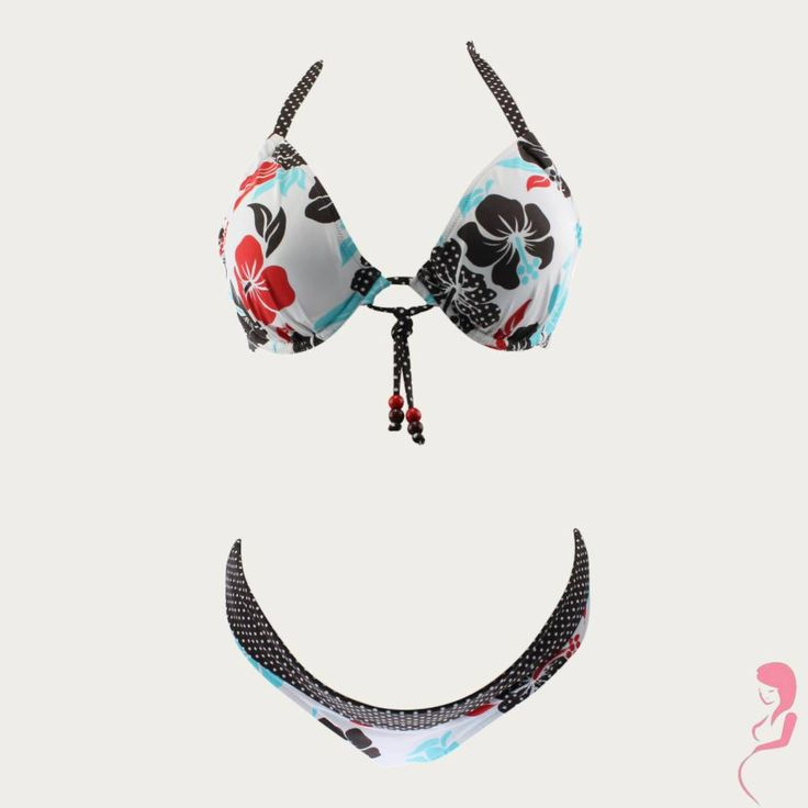 Super vrolijke en opvallende zwangerschapsbikini van Pez Dor met een leuk bloemenpatroon. Comfortabele passing en elastische stof.