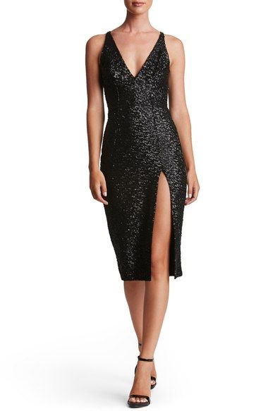 Dress the Population Camilla Sequin Midi Dress available at #Nordstrom
