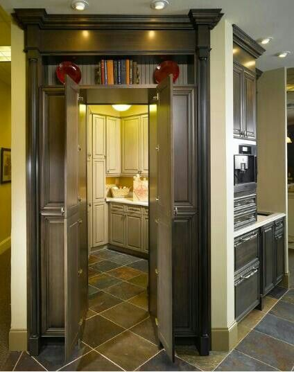 Hidden pantry or laundry in the kitchen