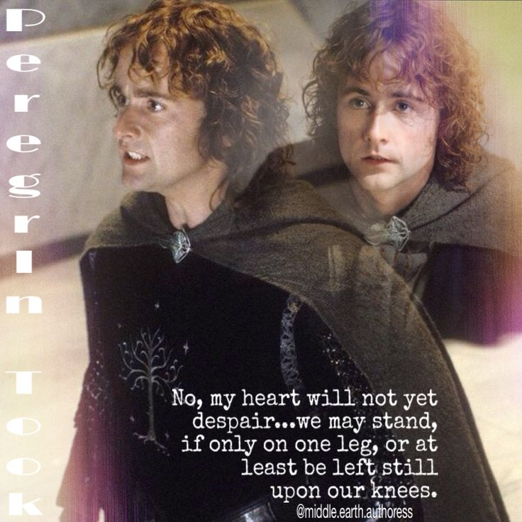 Pippin~ This is my favorite Pippin quote.: