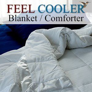 "Cooling Blanket / Comforter (King) Feel Cooler® Blanket by Feel Cooler®. $149.95. 30 Day Return Guarantee. Try it - If you don't like it return it within the 30 days and get a refund for the purchase price minus actual shipping costs.. Sleep Cooler, Sleep Better with Feel Cooler®. Made with Temperature Regulating Technology. Feel Cooler® Temperature regulating blanket / comforter that will help you sleep cool. Feel Cooler®  King Cooling Blanket / Comforter: 96"" x 10..."