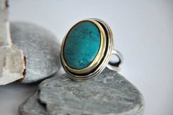 925 Silver Turquoise Antique inspired Ring by kirevi8 on Etsy, $73.00: Antiques Inspiration, Turquoi Antiques, Turquoise Antiques
