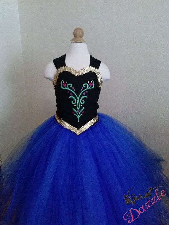 Disney Inspired Frozen Princess Anna Tutu Dress. Great for birthdays, photos, costume and princess parties