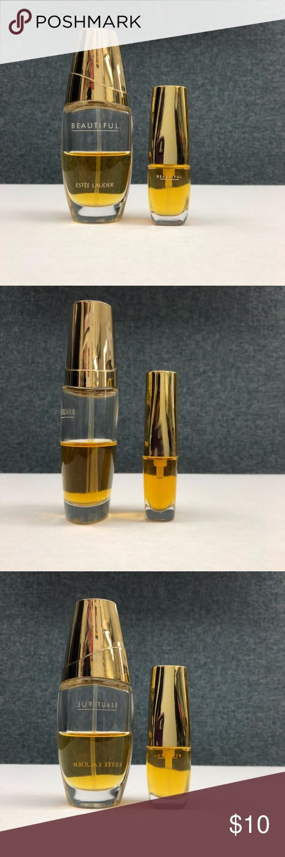 Estee Lauder Beautiful Eau De Parfum Used Estee Lauder Beautiful Eau De Parfum no box HALL FULL 30 ml 1 oz bottle Estee Lauder Beautiful perfume travel spray 4.7 ml and 5 ml  If you have questions, please ask Estee Lauder Other