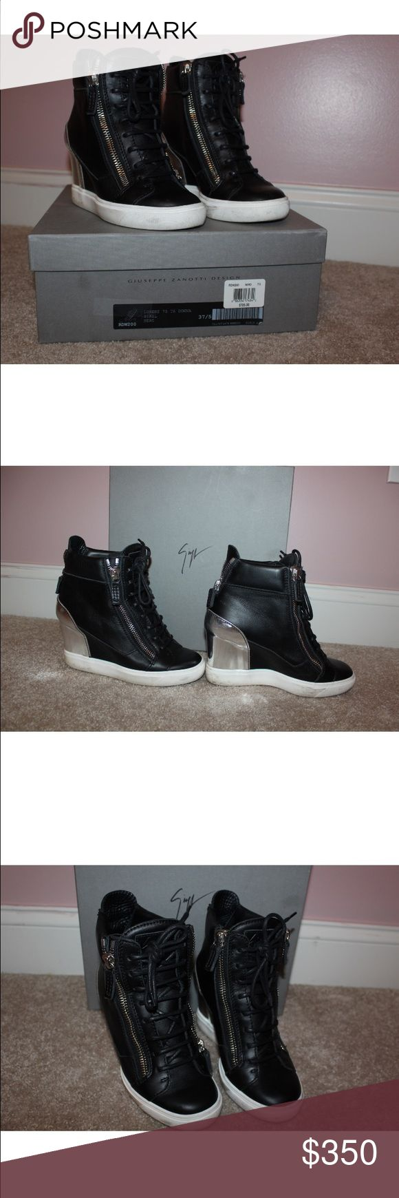 Giuseppe Zanotti  Wedge sneaker 37.5 I have these 100% authentic with the box Giuseppe Zanotti sneakers size 37.5 great condition!! No trades .... Giuseppe Zanotti Shoes Platforms