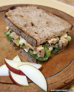 Tuna Salad with Apples & Basil- Martha Stewart RecipesHealthy Meals, Favorite Tuna, Lunches, Pasta Dishes, Tuna Recipe, Tuna Salad Sandwiches, Dinner Ideas, Martha Stewart, Sandwiches Recipe