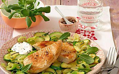 Puten-Schnitzel mit Zucchini