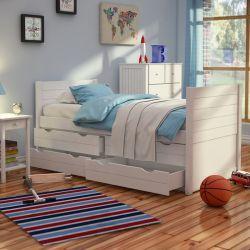 Childrens Cabin Bed White - Jango