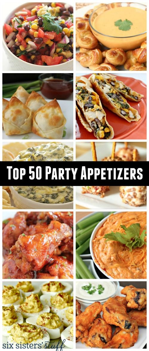 Top 50 Party Appetizers from SixSistersStuff.com