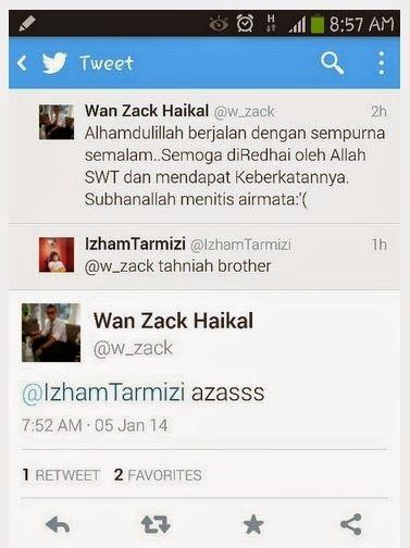 Gambar Pertunangan Wan Zack Haikal. Tidak sampai sehari selepas perpisahan mereka, kini sekeping gambar Wan Zack Haikal bertunang dengan seorang gadis