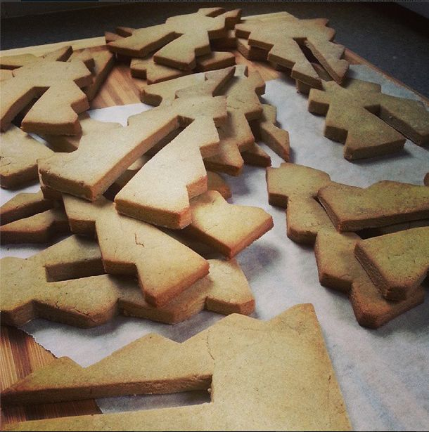 Gingerbread cut outs.