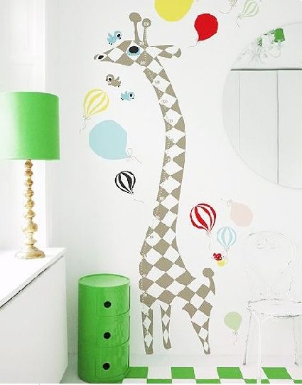 Giraffe Measuring Ruler Wall Decal Harlequin - $87.95 - 'It's where you play, rest.  Where you feel safe.  It's yours, and yours only.  Make your room special, with a wall sticker from the world of Littlephant' #sweetcreations #kids #bedroom #height #walldecal #giraffe